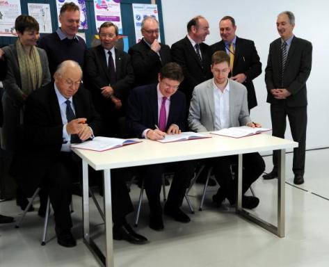 Signing the Greater Brighton City Deal at Wired Sussex's FuseBox in New England House