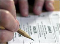Typical ballot paper (BBC)