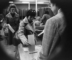 Typical voting (Corbis)